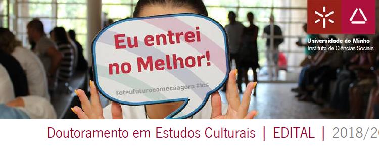 Doutoramento em Estudos Culturais | EDITAL | 2018/2019